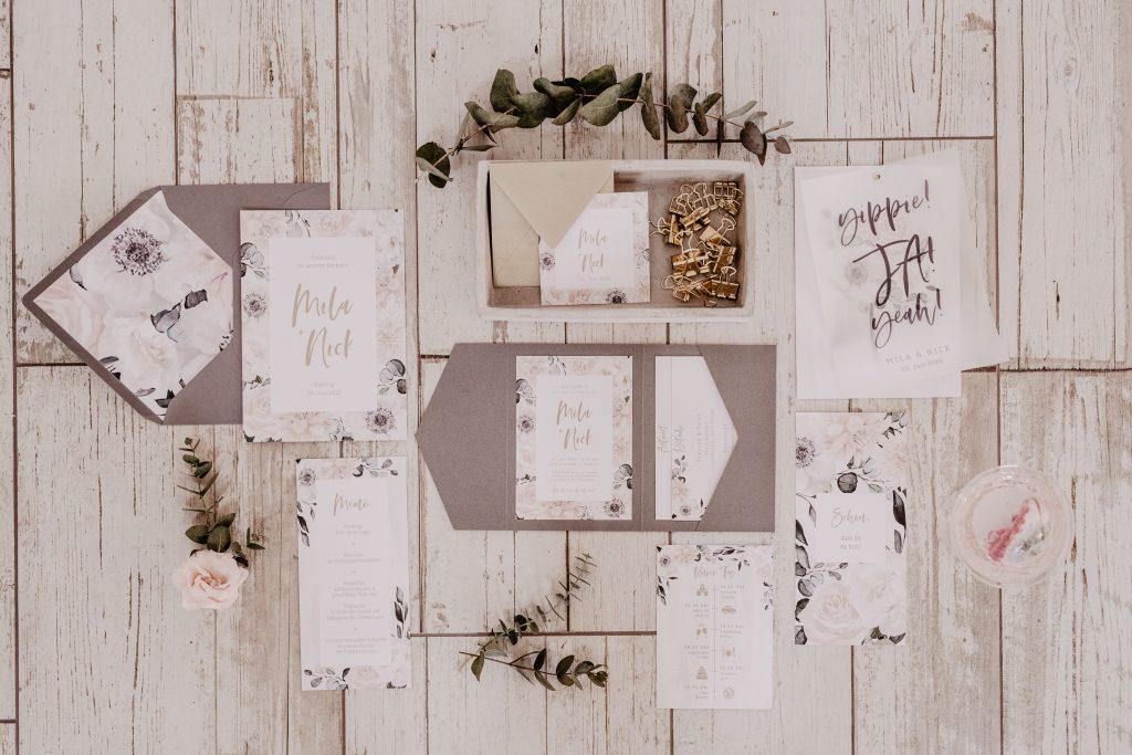 Hochzeitskarten Industrial Boho, Einladungen Boho