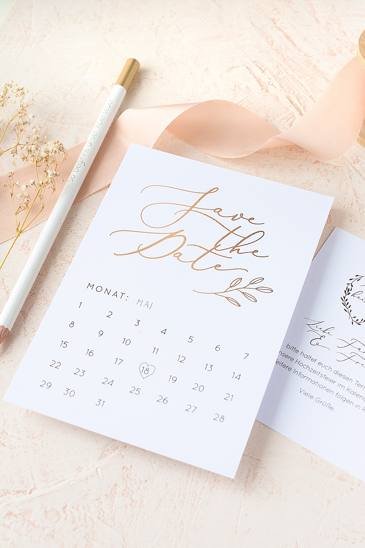 Save the Date Postkarte zum selber ausfüllen