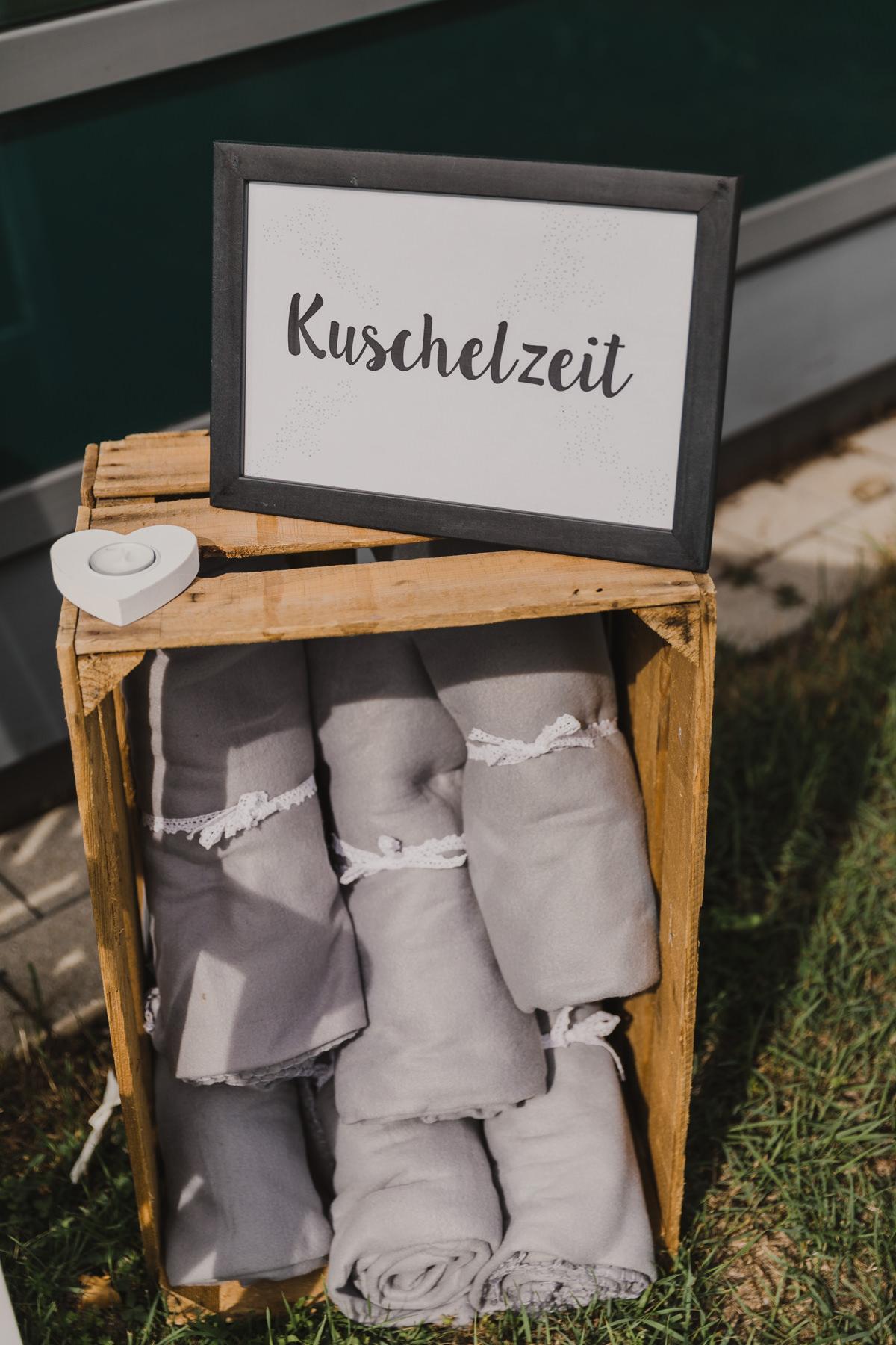 Gastgeschenke Hochzeit Decken für Kühle Stunden, Kuscheldecken Hochzeit
