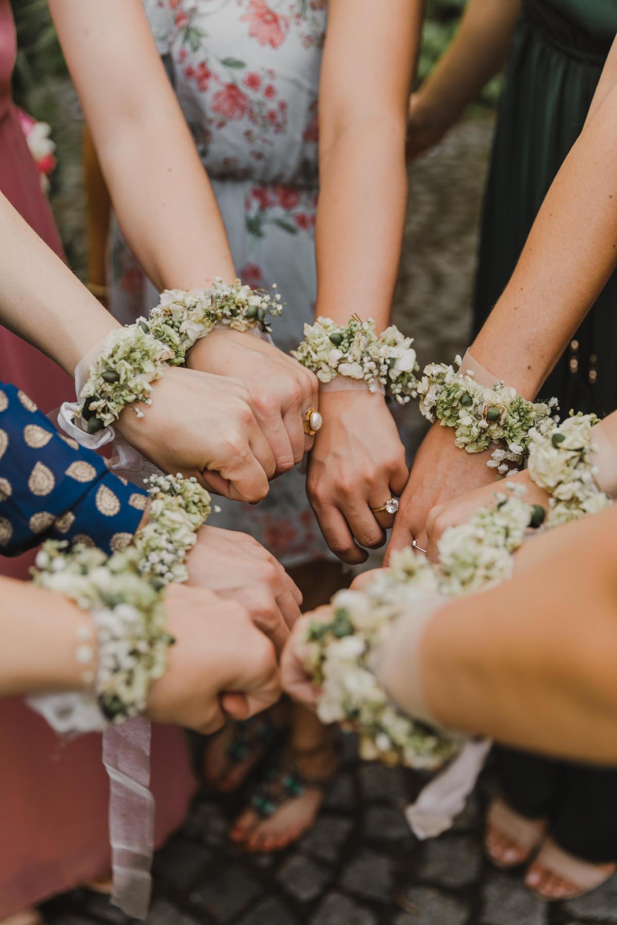 Armbänder Team Braut Hochzeit
