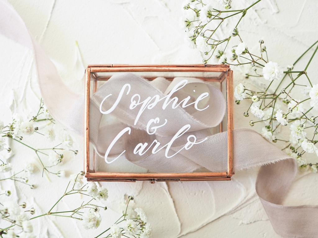 Ringkästchen Hochzeit Namen