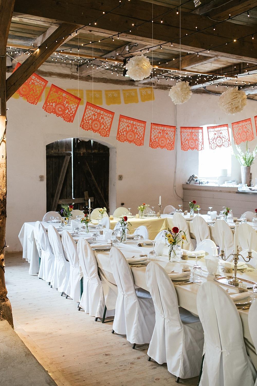 mexikanisch deutsche Hochzeit Tischdeko