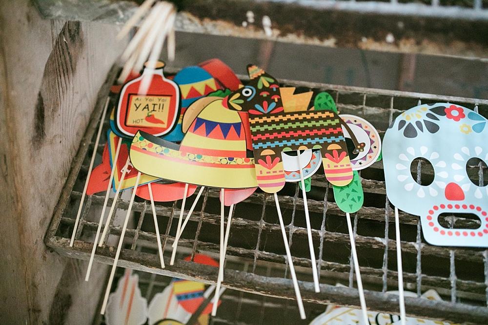 mexikanische Photo Booth Props
