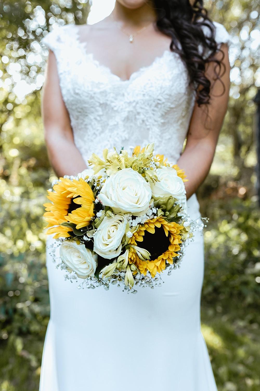 Brautstrauß Sonnenblumen, Brautstrauß gelb weiß Sommer