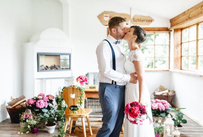 Hochzeit zu Zweit auf der Alm Huberspitz