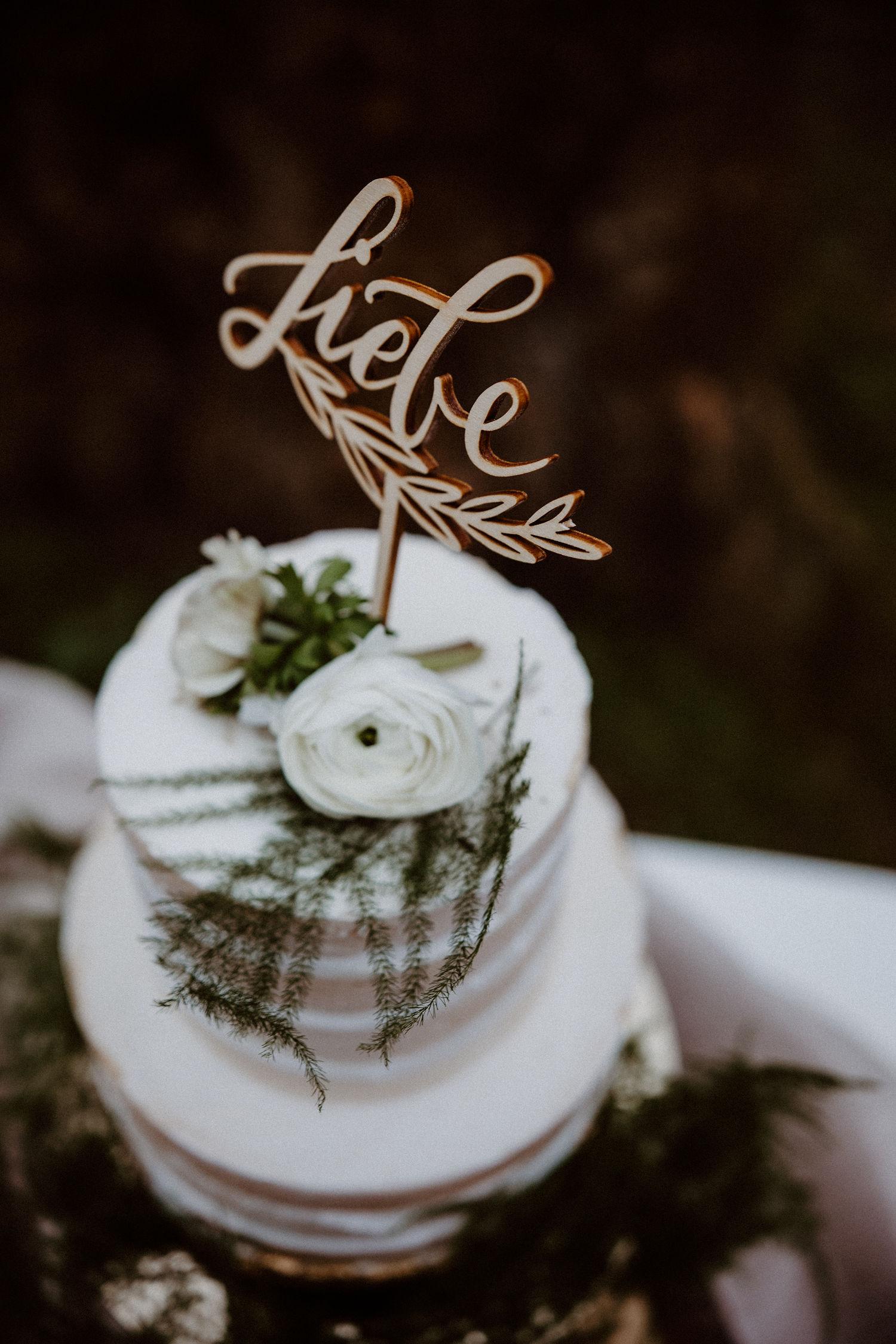 Cake Topper Hochzeit mit Liebe,Tortentopper Hochzeit, Kuchentopper Hochzeit, Tortentopper Taufe