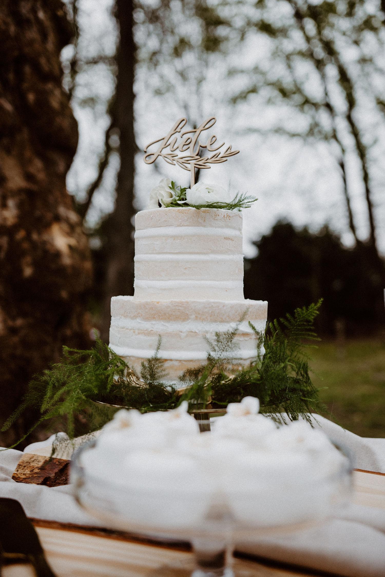 Cake Topper Liebe für Hochzeitstorte oder Taufe