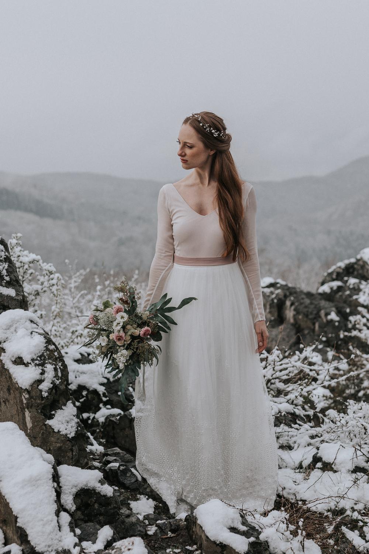 Brautkleid Winter und Herbst  Hochzeitsblog The Little Wedding Corner