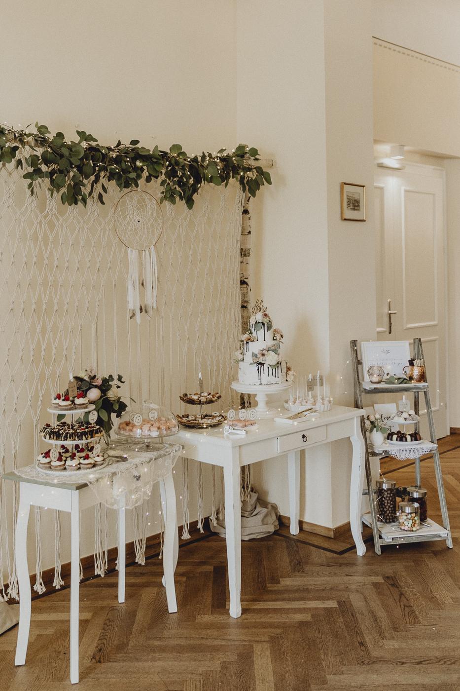 Kuchenbüffet Hochzeit Boho, Sweet Table Hochzeit Boho