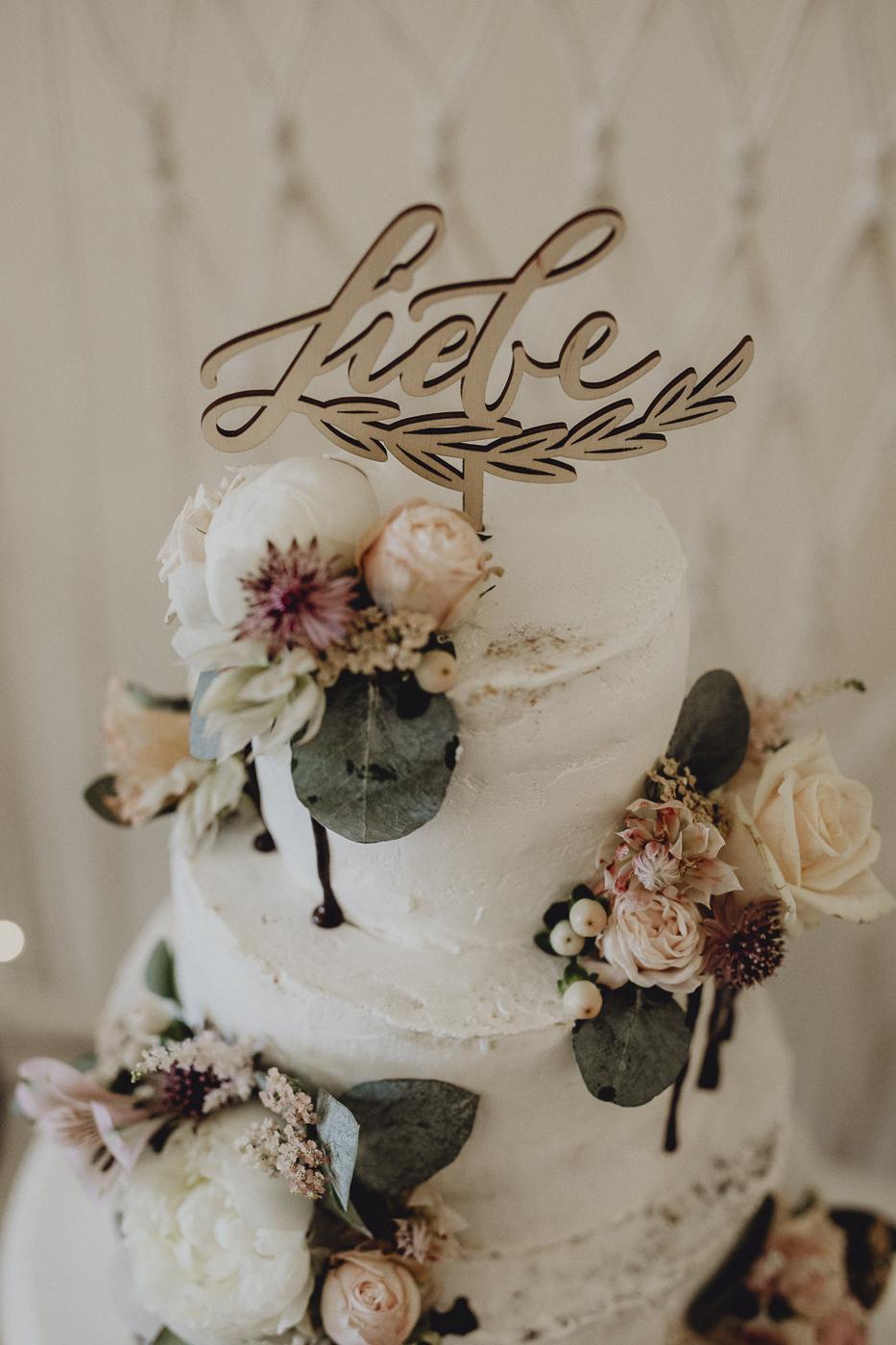 Cake Topper Liebe