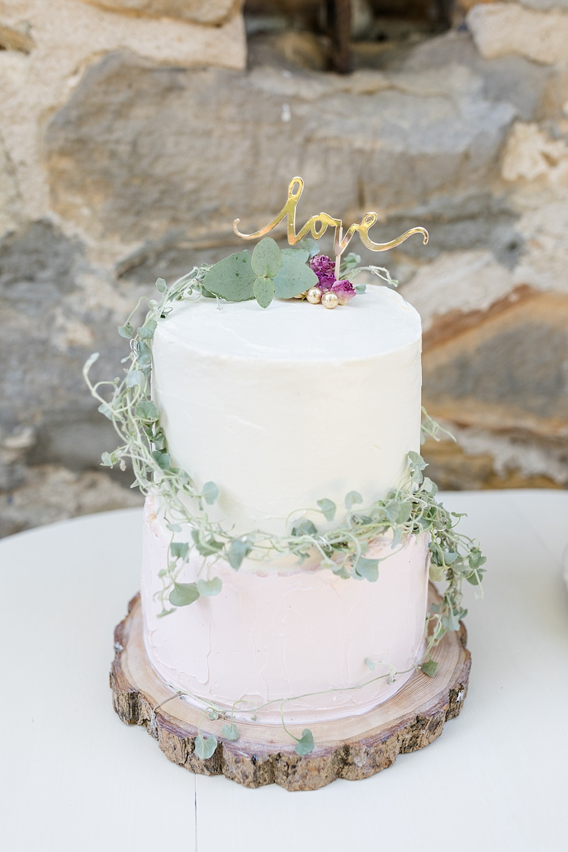 Hochzeitstorte weiß Greenery