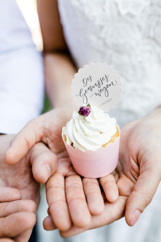 Cupcake Hochzeit mit Anhänger,