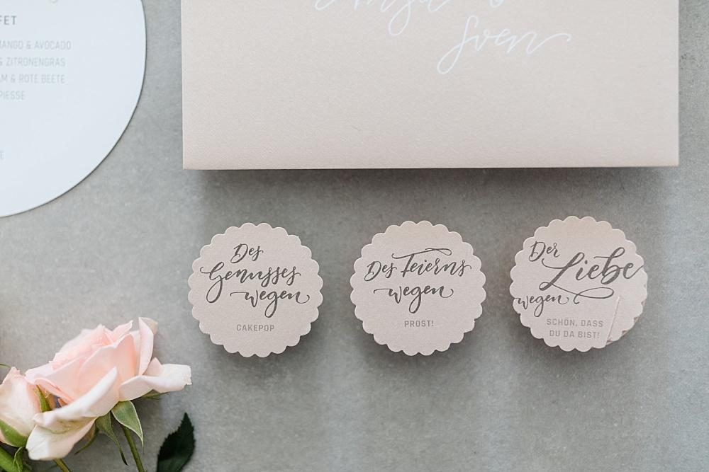 Anhänger Hochzeit Pastell