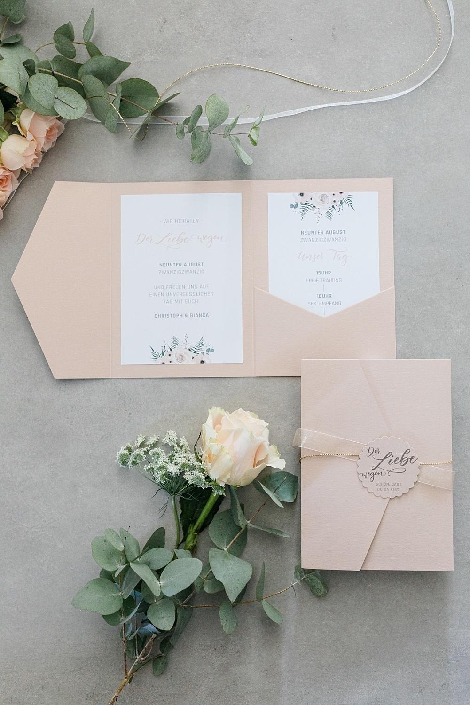 Hochzeitskarten Pastell, Hochzeitseinladungen Pocketfold
