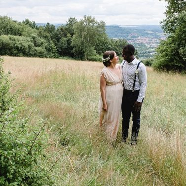 Sommerparty DIY Hochzeit in Schwarz-Weiß-Gold