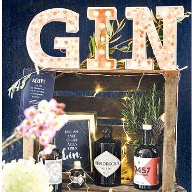 DIY Gin Bar Selbermachen für die Hochzeit