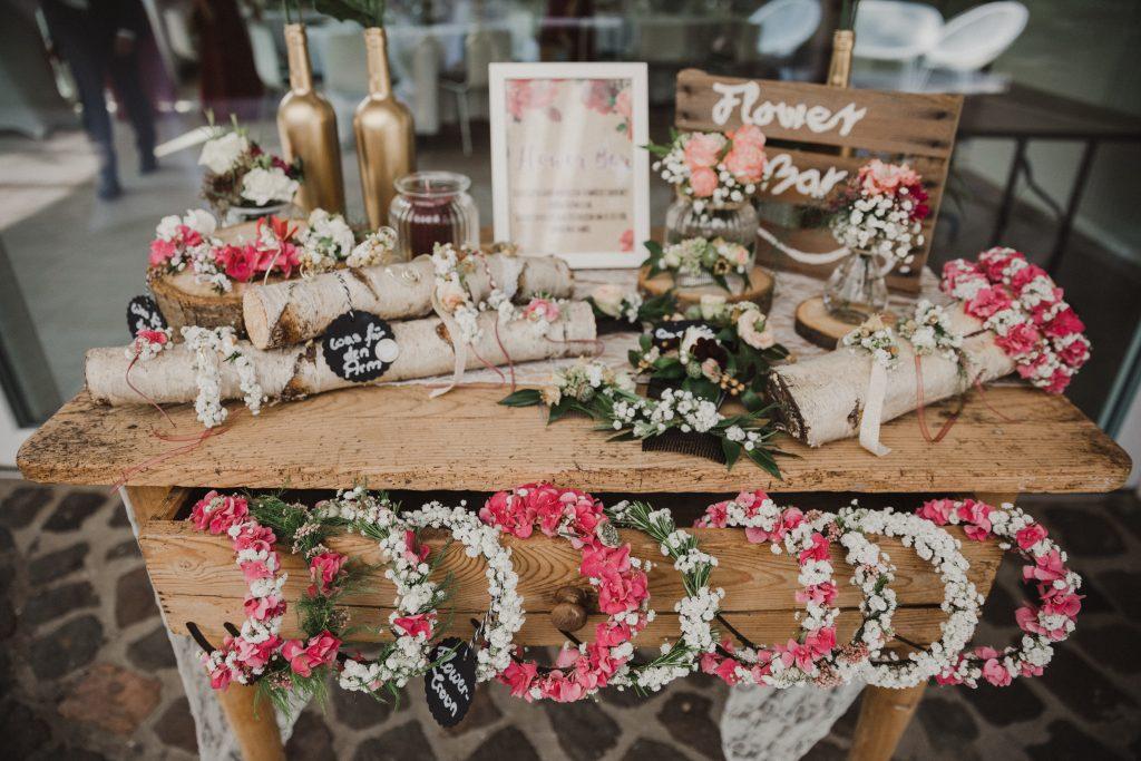 Flower Bar Hochzeit, DIY Bar Hochzeit, Hochzeit Themenbars, Beschäftigung Gäste Hochzeit