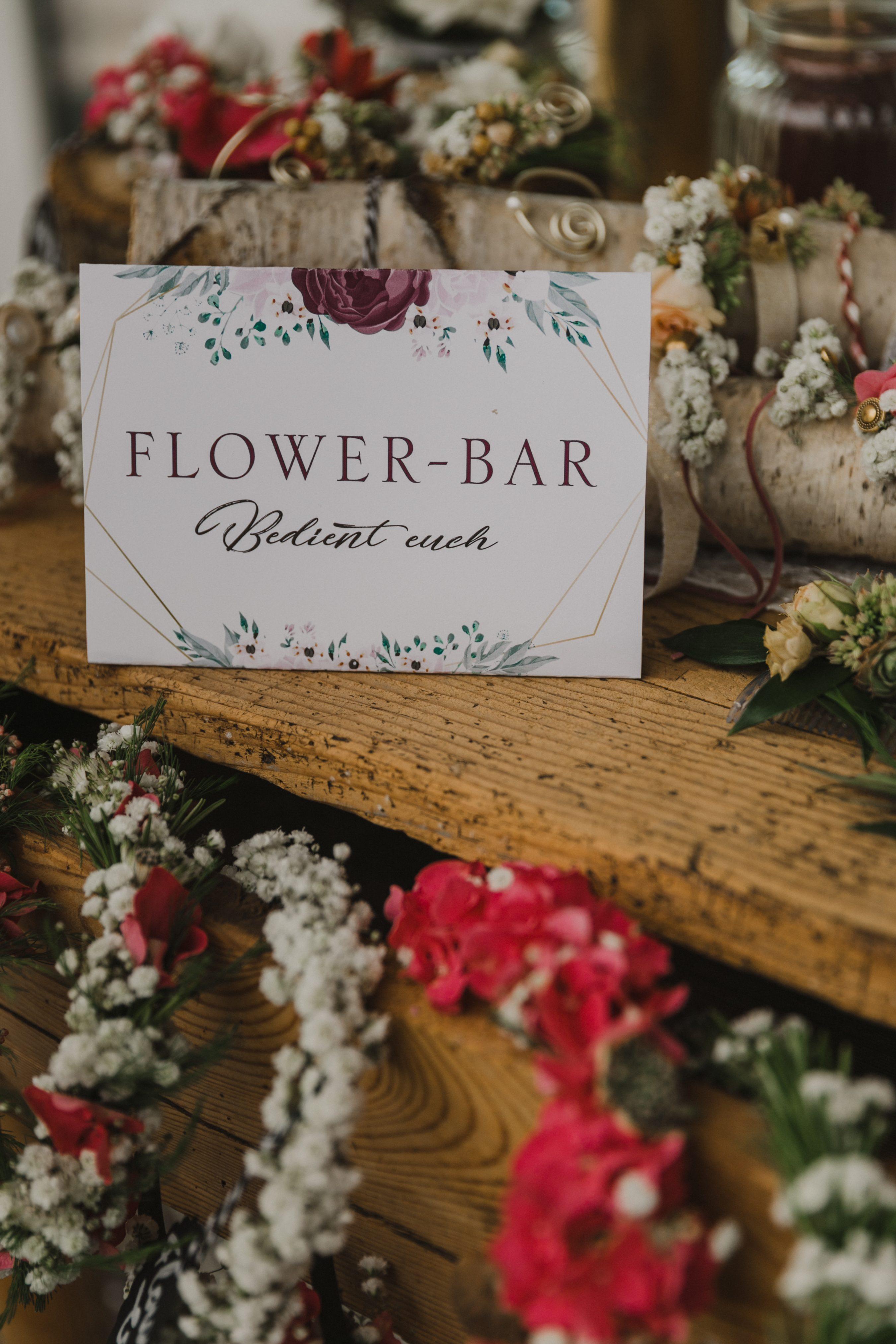 Flower Bar Hochzeit