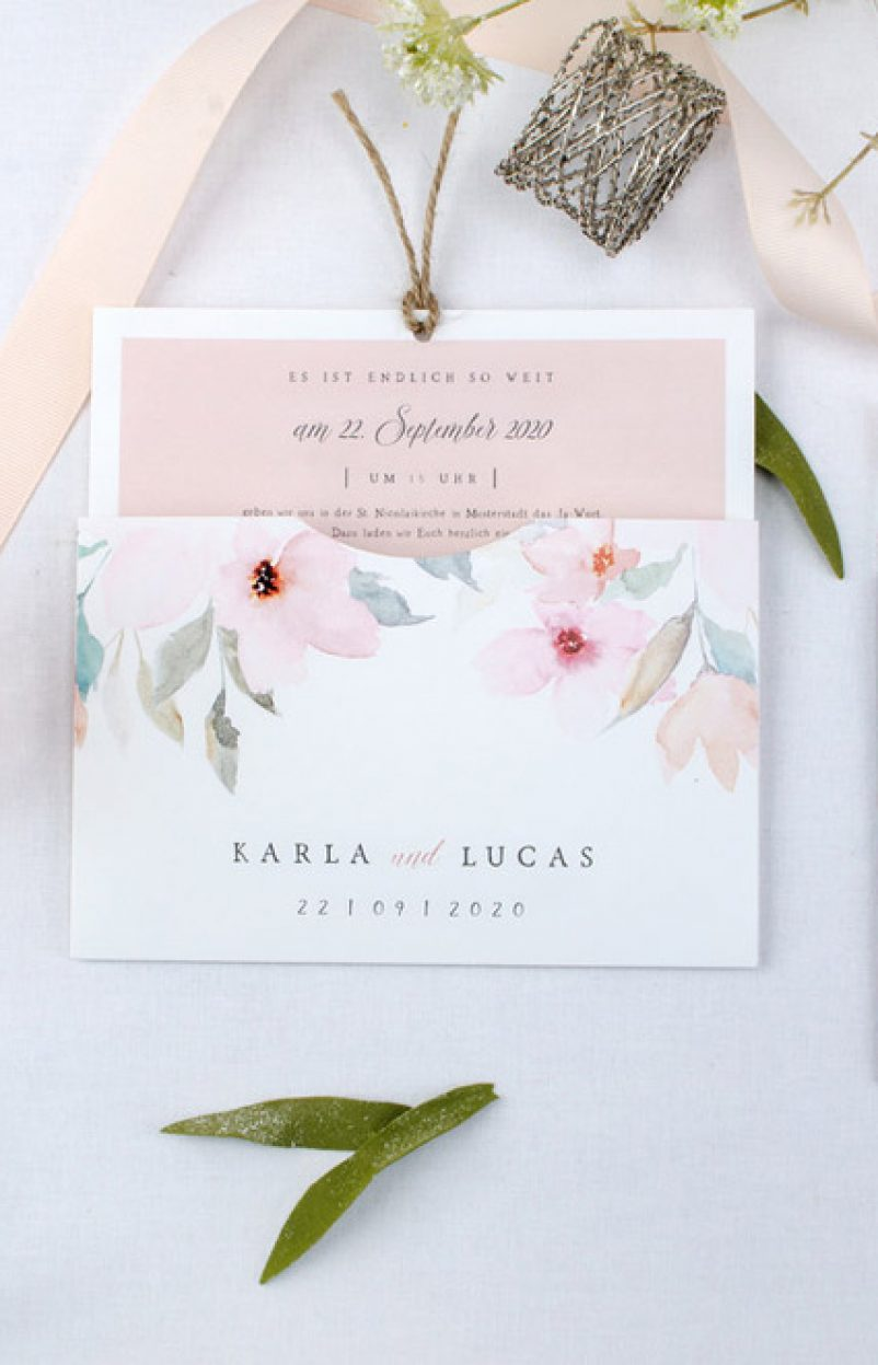 5 Ideen für die Gestaltung eurer Einladungskarten zur Hochzeit