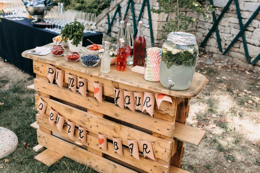 Prosecco Bar Hochzeit, Pimp your Drink Bar Hochzeit