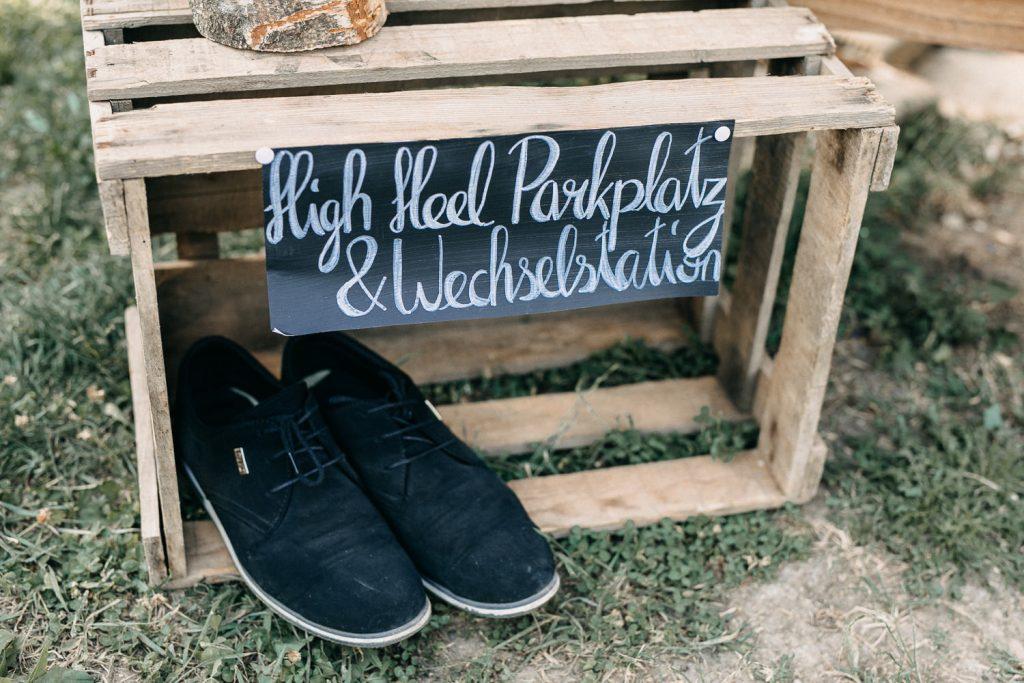 High Heel Parkplatz Hochzeit selbermachen