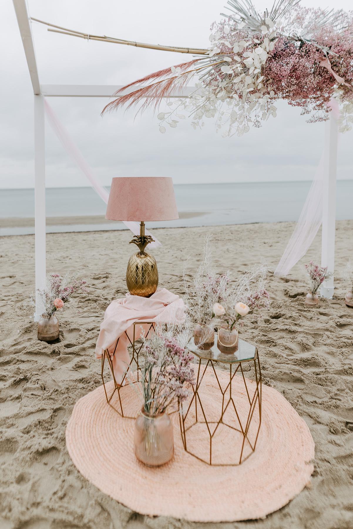 Strandhochzeit Dekoration, Heiraten an der Ostsee