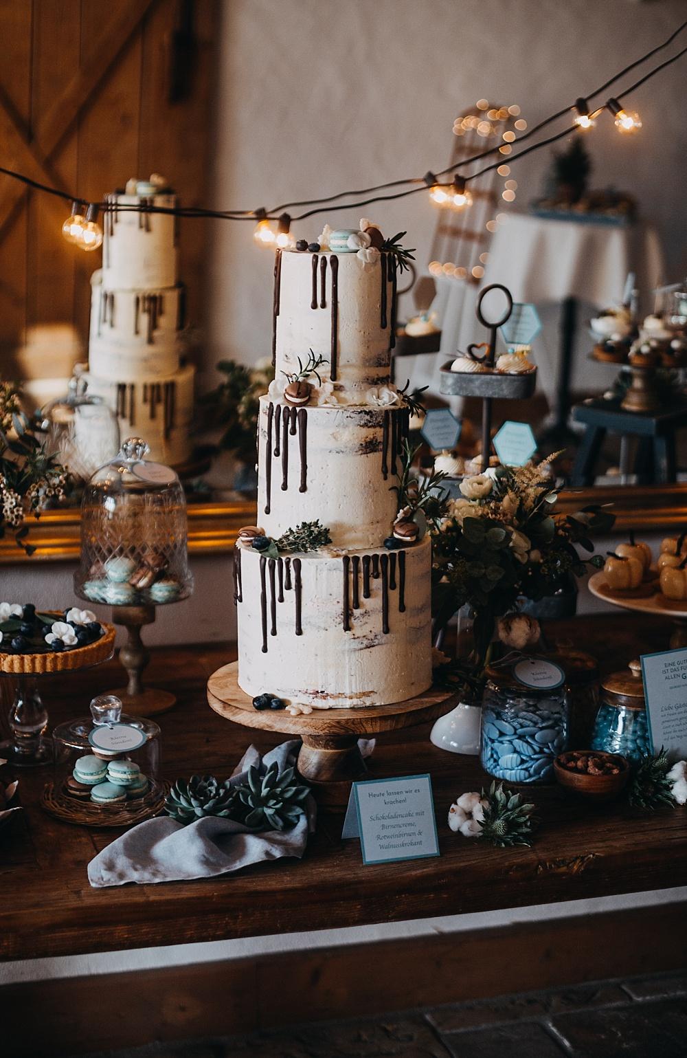 Drip Cake Hochzeit, Semi Naked Cake Hochzeitstorte, Hochzeitstorte Drip Cake,