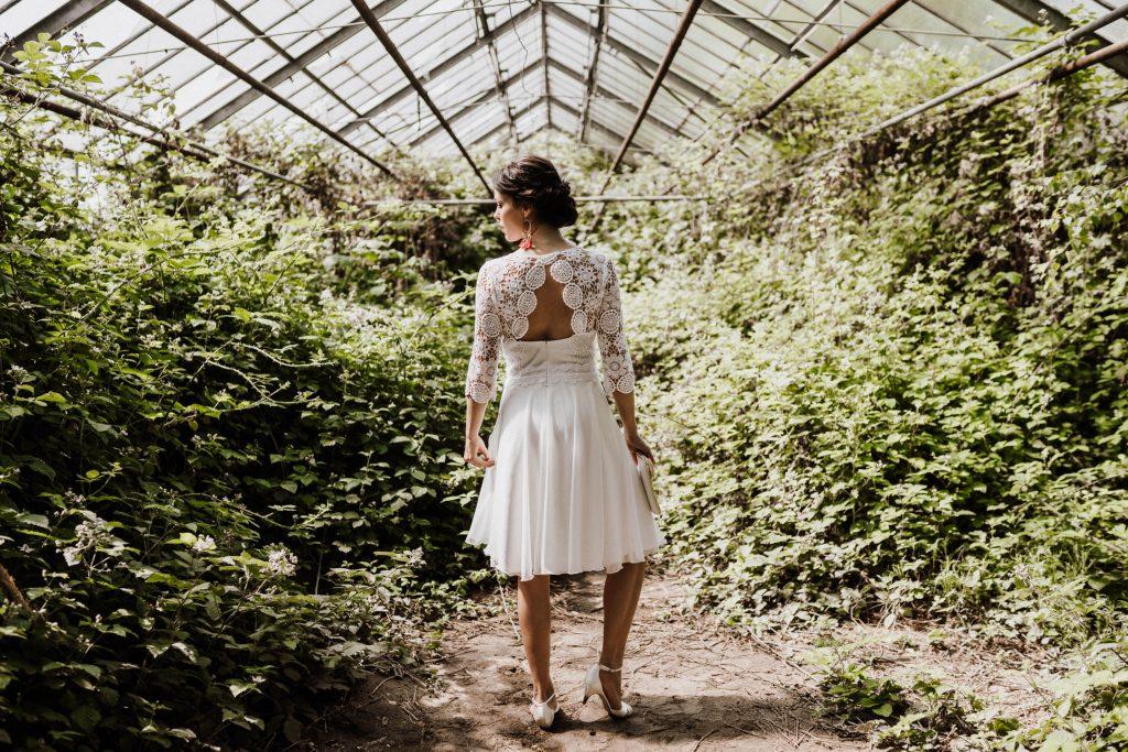 Brautkleid kurz, brautkleid Standesamt kurz, Brautkleid kurz rückenfrei