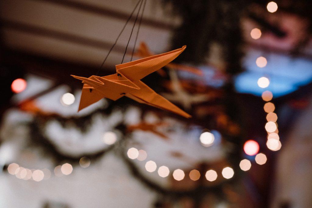 DIY Origami Kraniche Hochzeit, Origami Kraniche selber machen für Hochzeit