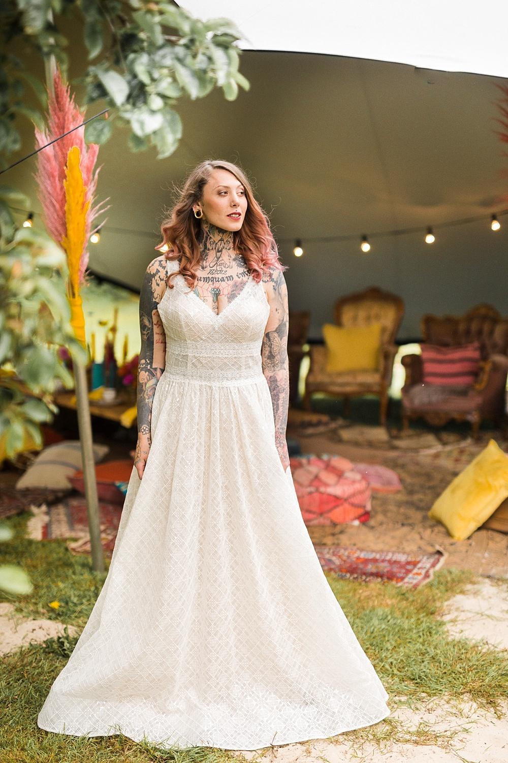 Festival Hochzeit bunt, Hippie Hochzeit