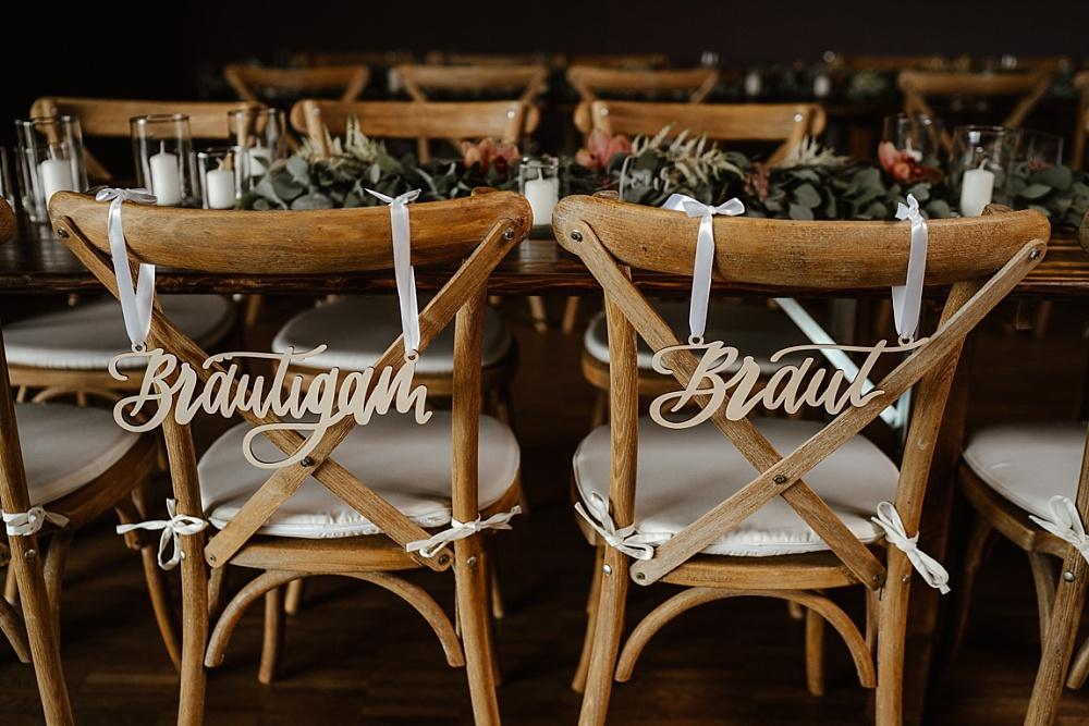 Braut Bräutigam Schilder, Braut Bräutigam Stuhlschild Hochzeit