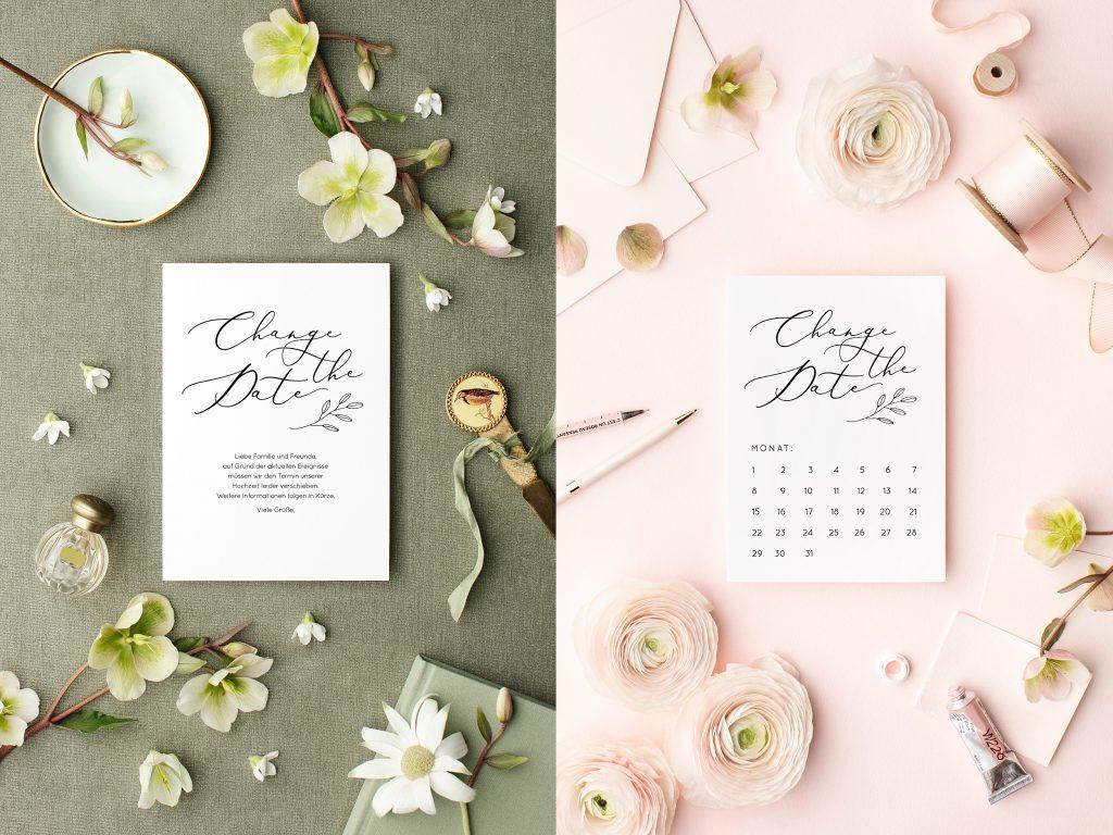Hochzeit verschieben Karte, Change the Date Karte Hochzeit