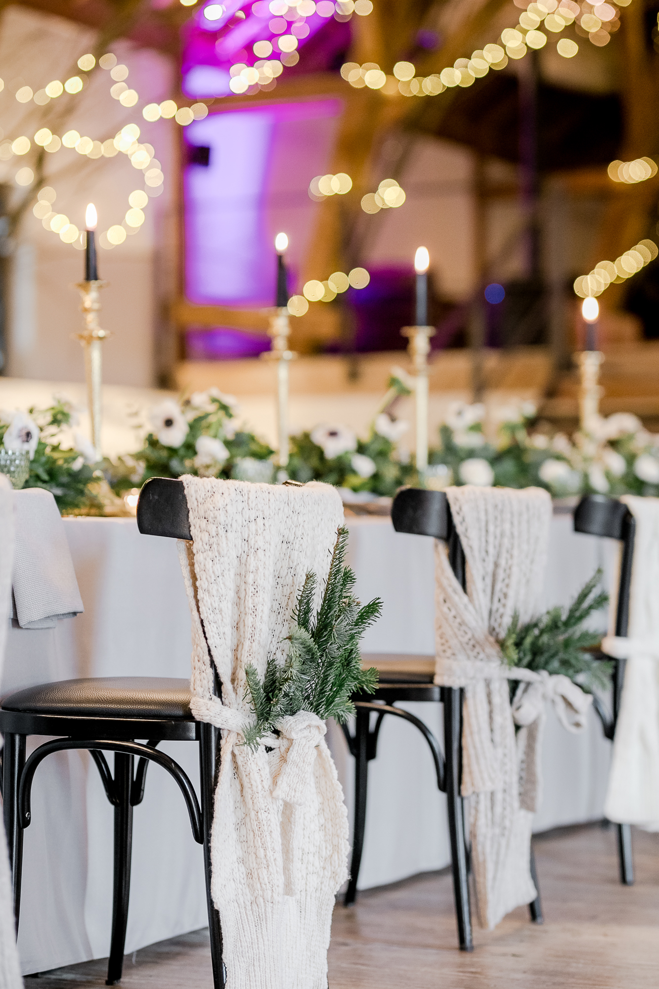 Tischdekoration Winter Hochzeit, Winterhochzeit Tischdeko