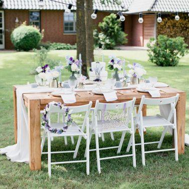 Heiraten trotz Corona: Eine sommerliche DIY Hochzeit im eigenen Garten