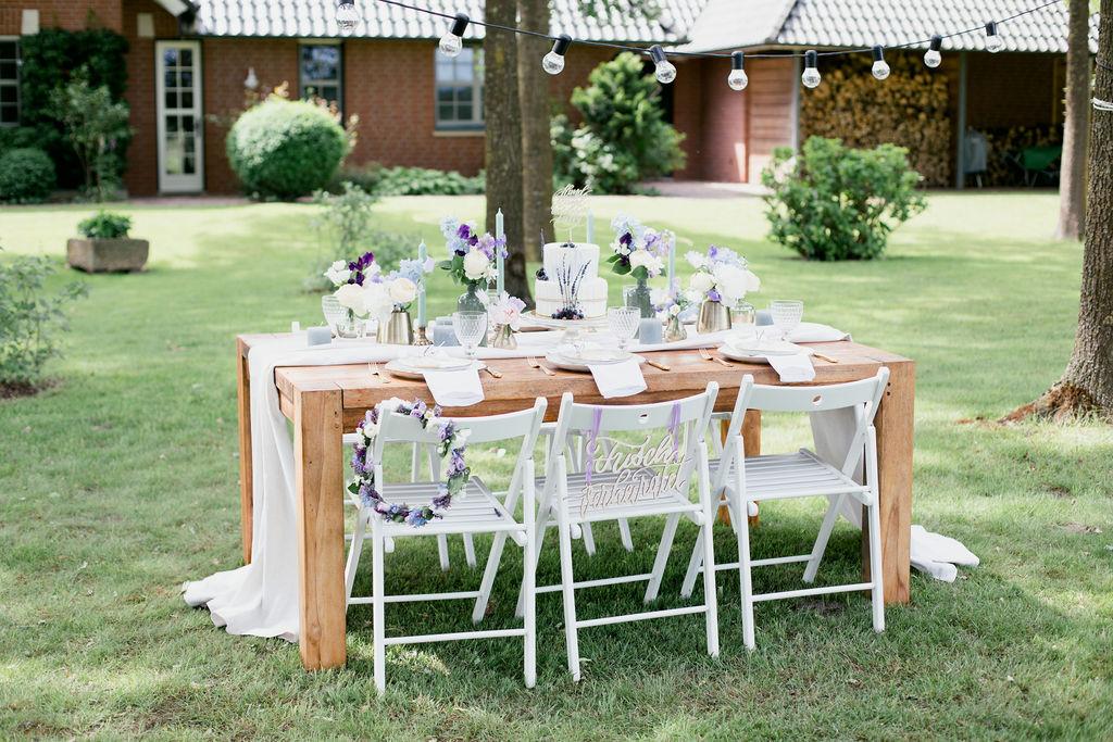 Heiraten trotz Corona, Hochzeit im eigenen Garten, DIY Hochzeit trotz Corona