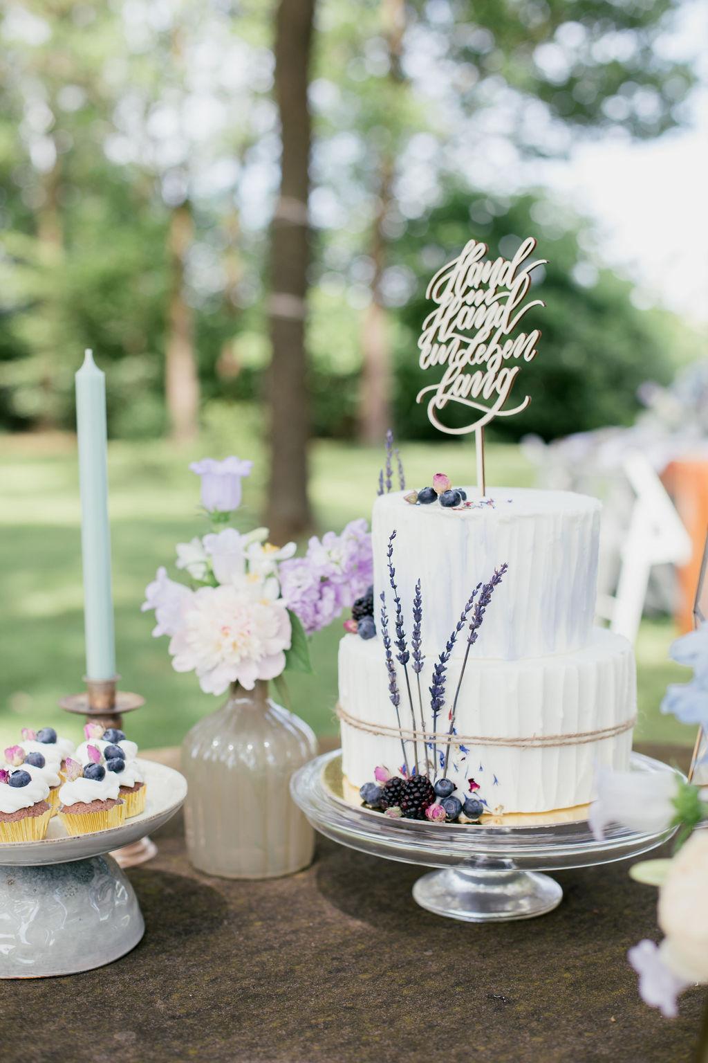Hand in Hand ein Leben lang Cake Topper