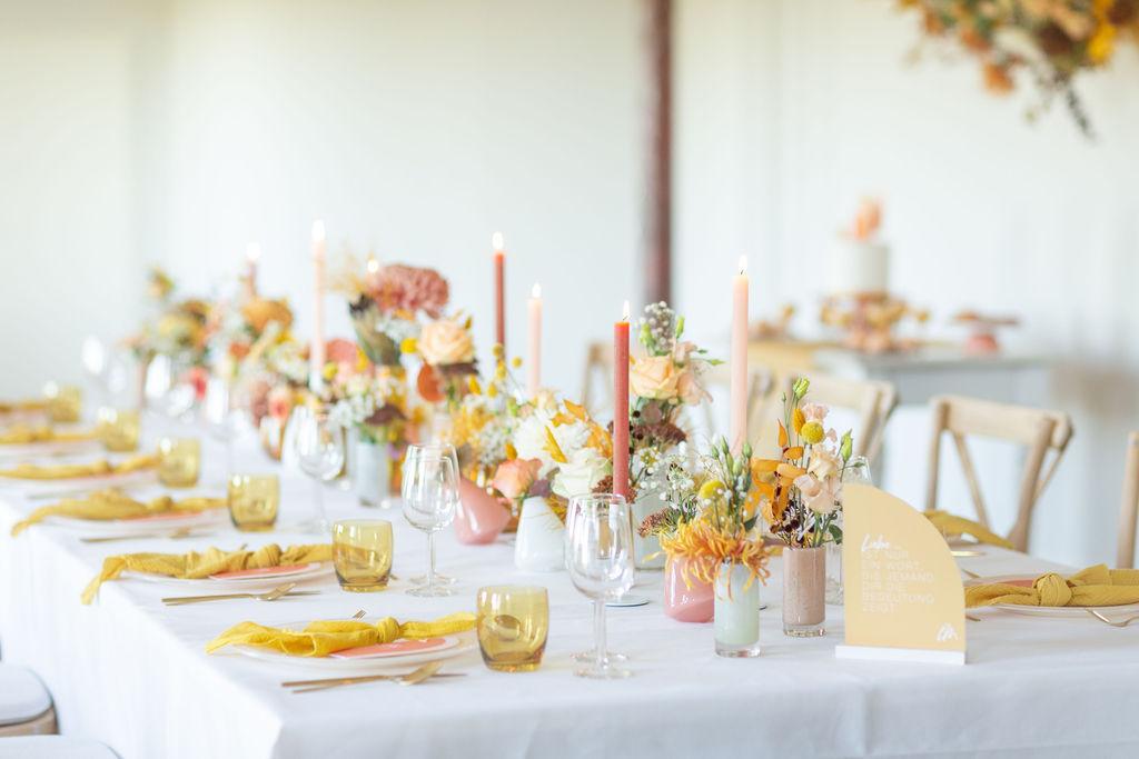 Klein heiraten trotz Corona, Tischdeko kleine Hochzeit, tiny wedding