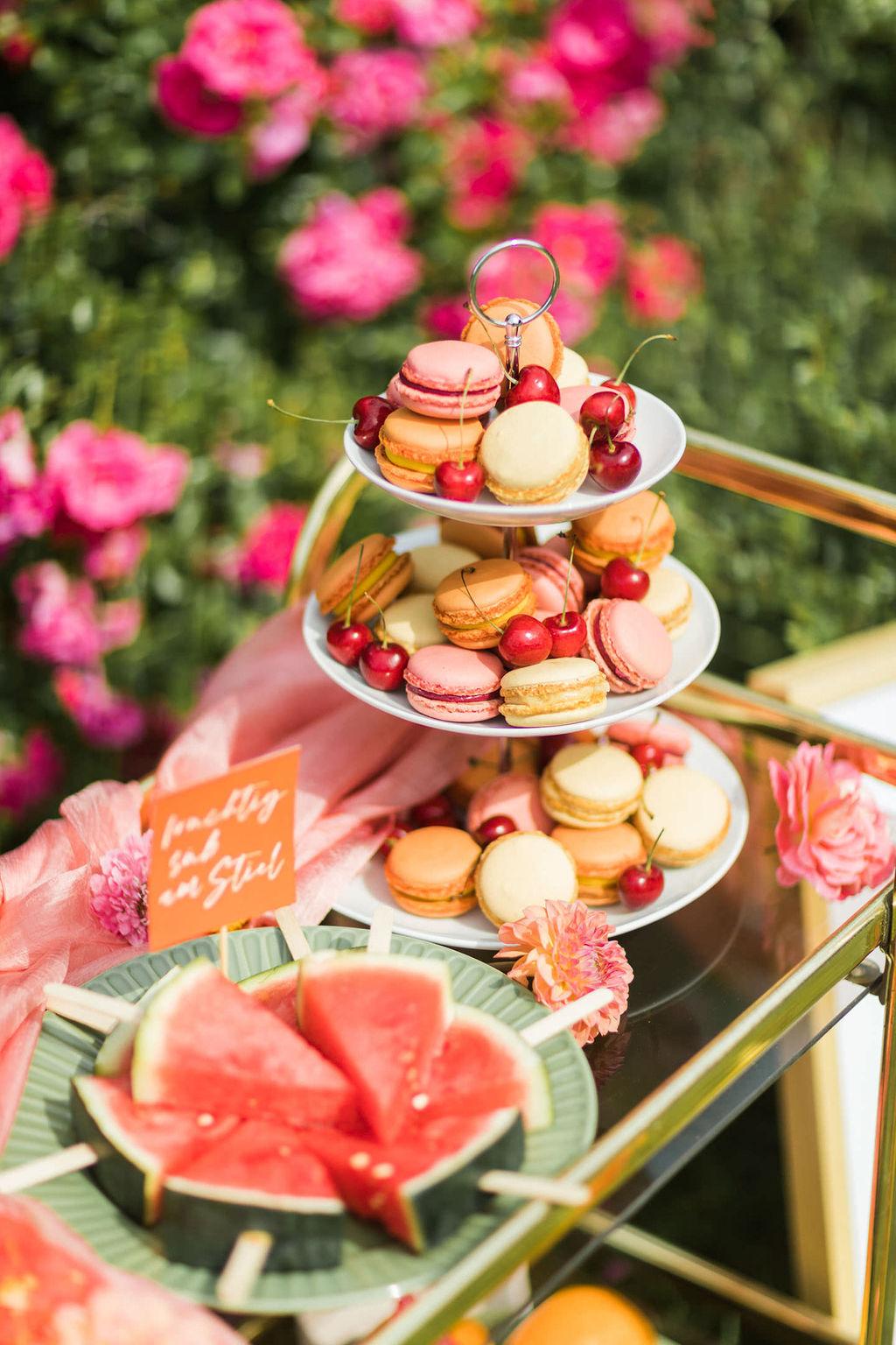 Macarons Hochzeit bunt